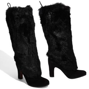 Sam Edelman | 'Shalin' Red Bottoms Faux Fur Boots